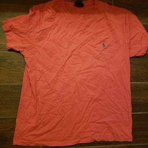 Polo Ralph Lauren Pocket Orange T Shirt Sz Large